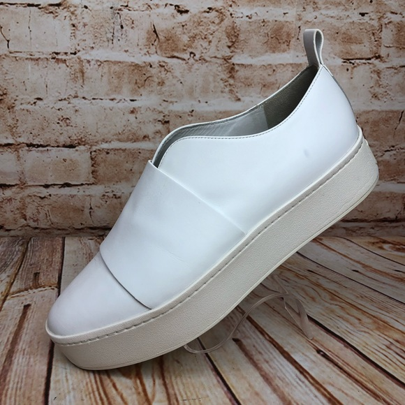 bfecf56db165d Vince WALLACE Leather Fashion Platform Sneakers